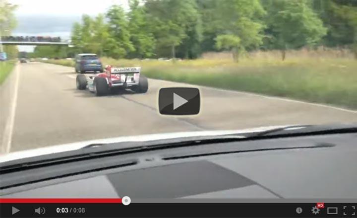 Formula car highway Netherlands
